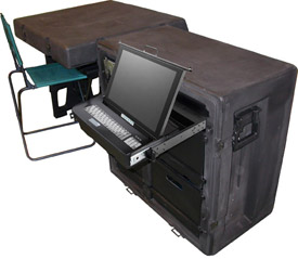 Tactical Desk with built-in Tactical Computer Workstation
